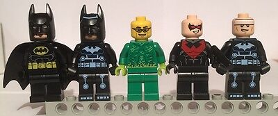 Lego Genuine Superheroes Minifigure Job Lot; Batman, Nightwing, Etc