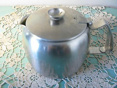Old Hall stainless steel 2 pint teapot - vintage retro cafe