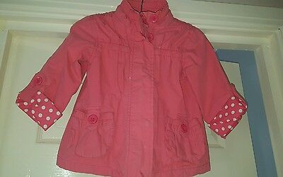 Girls pink John Lewis jacket age 4 with turn up sleeves