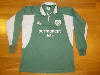 Ireland Rugby Shirt Jersey Camiseta Maglia Trikot Canterbury Size M Long Sleeves