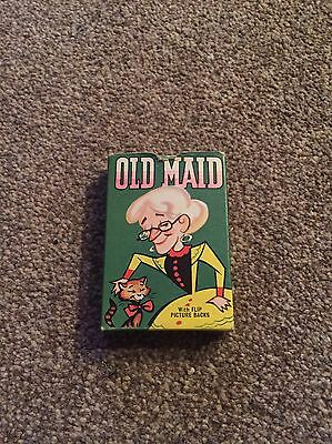 Vintage Old Maid Playing Cards