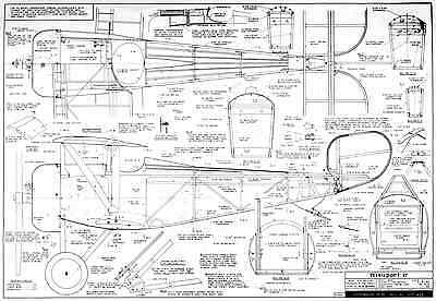 VK NEIUPORT 17 classic R/C SCALE model plans