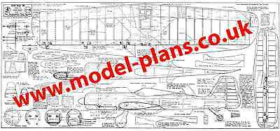 Claus Maikis Focke Wulf 190 classic control line stunt plans