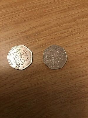 Rare Collectable 50p coins (girl guides and scouts)