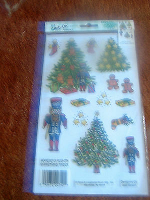 Christmas Tree/toy Soldier Rub Ons - New