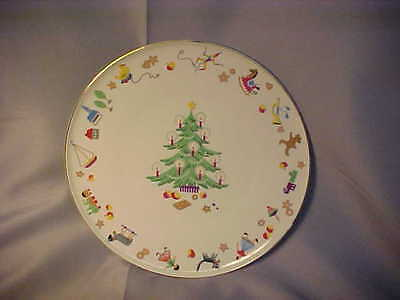 """Heinrich H&C Selb Germany PLATE Christmas Tree & Toys 9 3/4""""  Very Good Cond"""