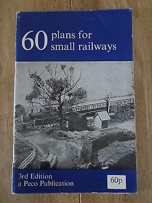 60 Plans For Small Railways Book by Peco 3rd Edition 1975