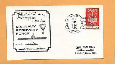 Gemini Gta-11 Navy Recovery Force Sep 12,1966 U.s.s. Forrest Royal