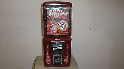 Northwestern Dr Pepper 25 Cent Gumball Machine with Glass Globe and Lock and Key