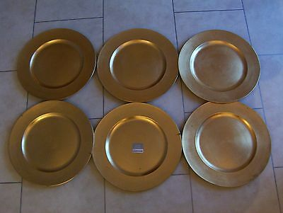 £24 6 X Charger Plate Gold Lacquer Round Under Dinner Plates 13 Inspire Ultimate
