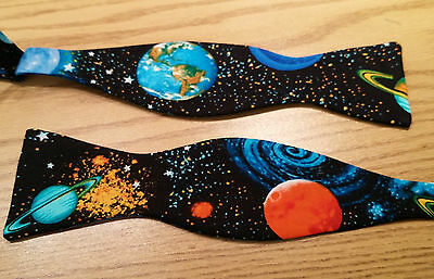 Planets Space Bow Tie - Self Tie