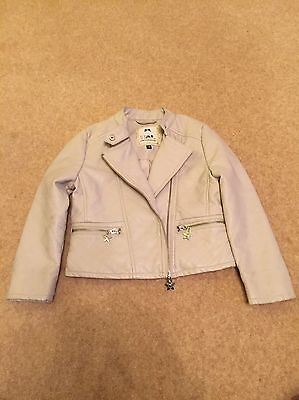 Girls Debenhams Julien MacDonal - Star Faux Leather Biker Jacket Age 5