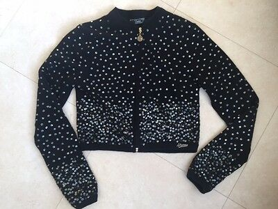 Guess Black Sequin Girls Jacket Cardigan - Age 12