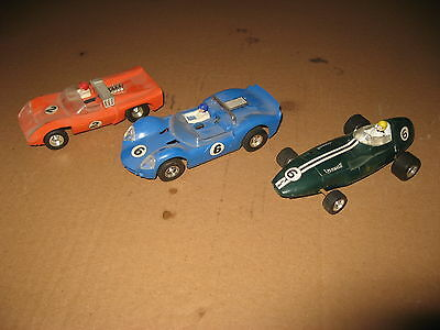 3x VINTAGE SCALEXTRIC JAVELIN ELECTRA  CAN AM V8 GT VANWALL