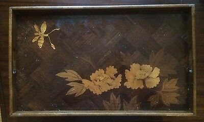 French Art Nouveau Marquetry Tray