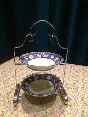 Two-Tier Silver Plate Serving Tray