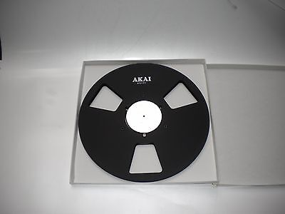"""New!  AKAI black 10.5"""" inch Metal Reels for 1/4"""" tape- Mint Condition"""
