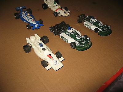 5X Scalextric Cars Slot Cars