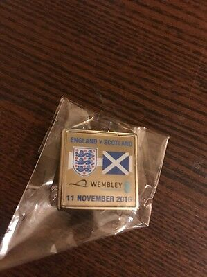 Official Pin badge: England Vs Scotland 11/11/2016 World Cup 2018 Qualifiers