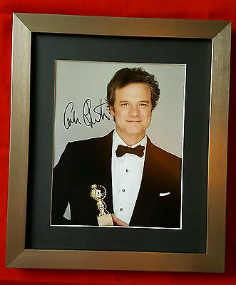 Hand Signed Framed & Mounted Photograph of Colin Firth (Cert. Authenticity)