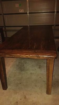 Table, Large Solid Timber; Distressed