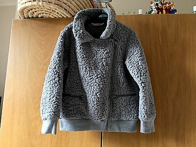 Girls Next Stunning Grey Fleece Jacket Age 6 Lovely ��