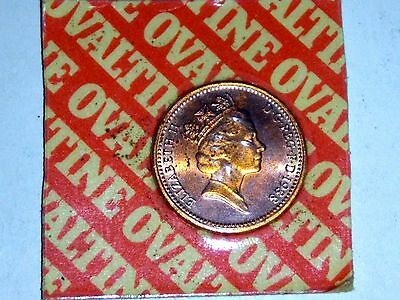 Old British Uncirculated and Sealed Ovaltine Penny