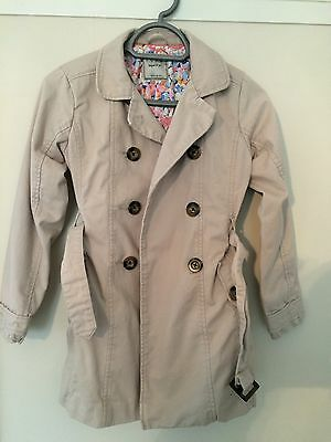 Girls Size 11yrs Next Trench Coat/Mac Stone/beige and Fully Lined.  Ex Cond