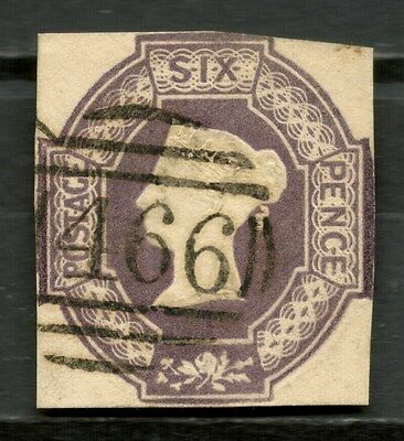 GB QV 1847-54 EMBOSSED ISSUE 6d SG60 USED (Cat. value £900) -CAG 041216