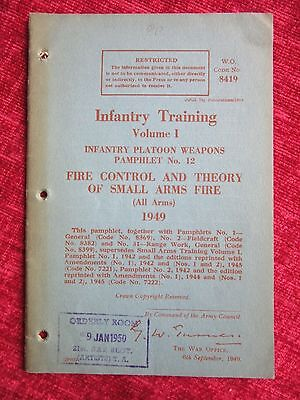 1948 WW2 Infantry Training Vol.1 Fire Control Theory Small Arms Home Guard FC70