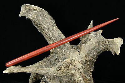 CURLY Flames Redheart Wood Wand – Wicca Magic Druid Metaphysical Pagan Witch