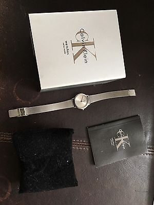 Calvin Klein Ladies Wrist Watch  Stainless Steel Boxed New Battery