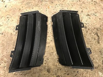 Genuine Ford Focus RS Mk1 Pair Of Front Bumper Side Vents - Carbon Wrapped Used