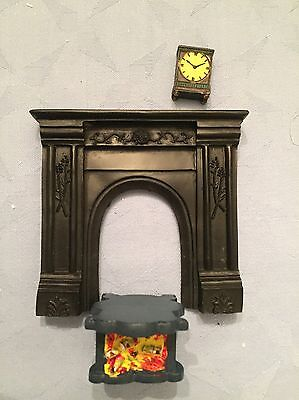 Fire surround  , fire and grate for dolls house