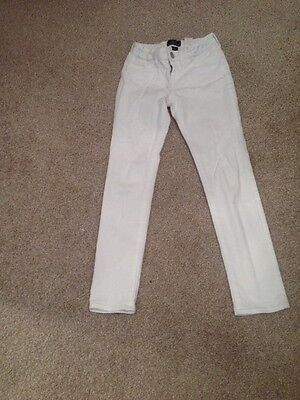 Gap White  Skinny Jeans Age 8  With Adjustable Waist New Without Tags