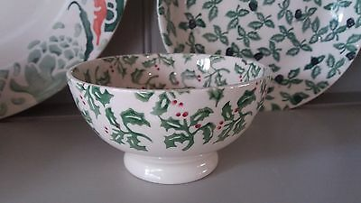 Emma Bridgewater Christmas Small Holly French Bowl - Perfect - Very Rare