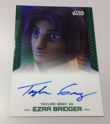 Star Wars Chrome Perspectives 2015 Taylor Gray As Ezra Bridger Auto 3/50