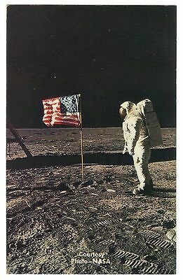 Apollo 11 Astronaut Aldren Beside The Flag of The United States