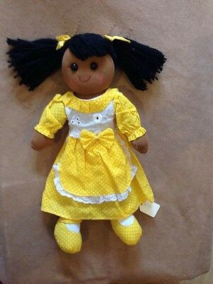 Beautiful Traditional Vintage style Powell Craft Rag Doll Large 40cm Cotton
