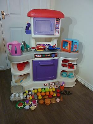 Little Tikes Kitchen With Kettle, Microwave & Play Food Sets