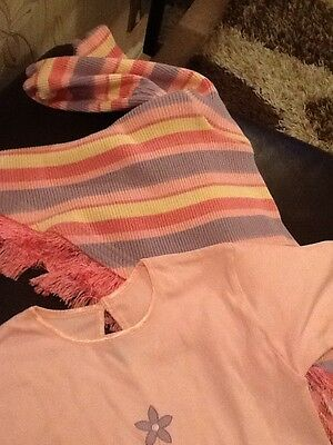 girls top and ponch set pink age 1/2 years