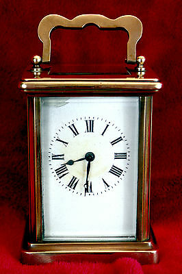 Edwardian French Carriage Brass Cased Clock