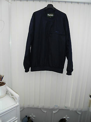 Rohan 'Windpacker' Mens Size M Navy Long Sleeve V Neck Lined Hiking/Walking Top
