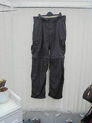 Craghoppers Bear Grylls Convertible Mens S Charcoal Grey Hiking/Walking Trousers