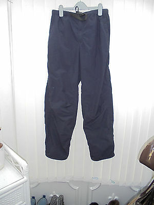 Rohan 'Dry Essentials' Mens Size S Navy Lined Waterproof Hiking/Walking Trousers