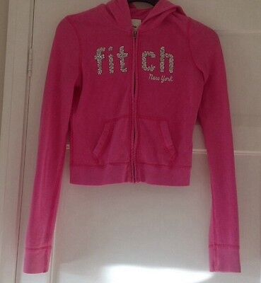 Abercrombie And Fitch Zip Up Pink Hoody. Girls Size - L