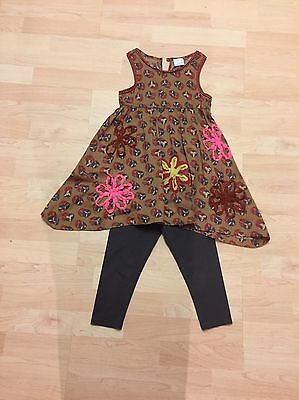Lovely Next 2 Piece Outfit Leggings & Dress Top Tunic Age 6