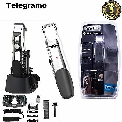 New Wahl 9916-1117 Groosman Rechargeable Body Hair Beard Neck Clipper Trimmer