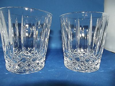 Stunning Whiskey Glasses 2 Wedgewood Crystal cut glass VGC
