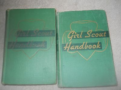 Two Girl Scout Handbooks Hard Cover 1947